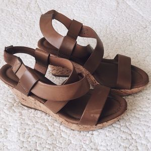 NWOT Aldo Brown Strappy Wedge Sandals